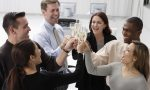Business Associates Toasting Champagne --- Image by © Royalty-Free/Corbis